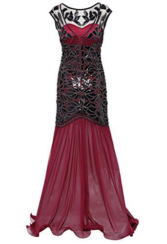 Babeyond Lentejuela 1920 Flapper Vestido Gatsby Vestido Larga Flapper Estilo Vestido