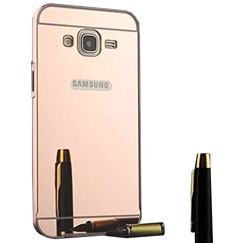 Funda Espejo Aluminio Metal Carcasa para Samsung Galaxy Grand Neo Plus / Grand Neo / Grand Lite GT-i9060i i9060 i9062 i9082 (5 pollici) Color Rosado