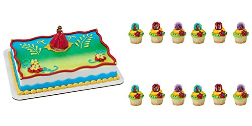 Elena of Avalor Cake Topper Decoration and 24 Cupcake Rings