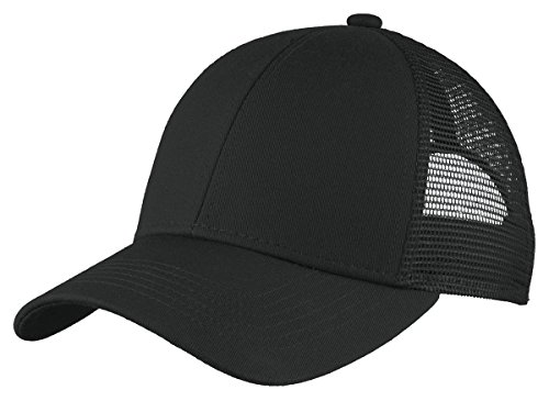 Port Authority Men's Adjustable Mesh Back Cap, Black, One ()