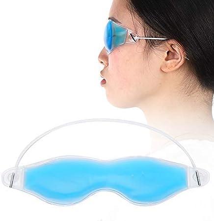 Mascarilla de gel de frío y calor para la terapia - Frío de verano reutilizable, máscara para los ojos del sueño - La almohada ocular hinchada para el ojo alivia el estrés, adecuada para dormir