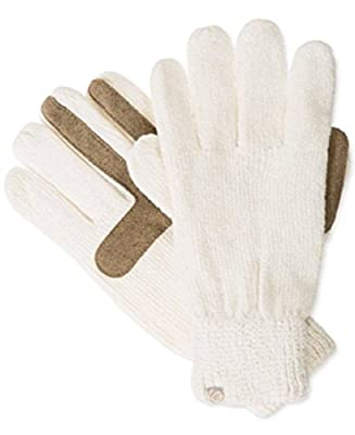 Isotoner Signature Women's Chenille Knit Palm Smart Touch Tech Gloves,One Size