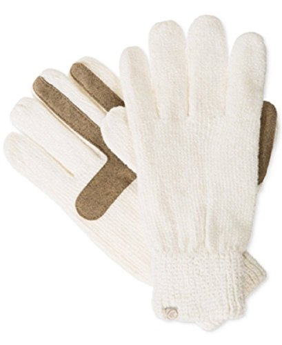 Isotoner Signature Chenille Knit Palm Smart Touch Tech Gloves in Camel (Ivory)