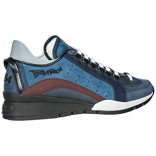 42 SNM0404 Uomo 13030001 DSQUARED2 Sneakers Blu Rosso wHvRWYxq