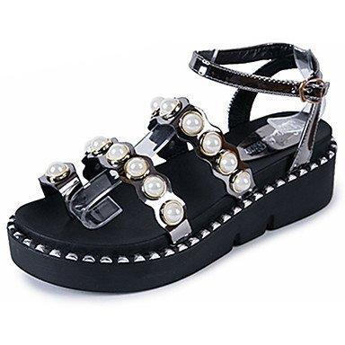 039 femmes sÉté PU Slingback sandales talon occasionnels Balades Boucle US6.5-7 / EU37 / UK4.5-5 / CN37