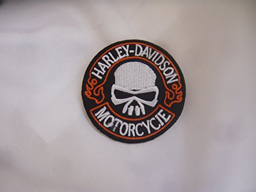 Harley Davidson Iron-On Patch Approx. 6 Motorcycle Club Skull Eagle Shield chopper55