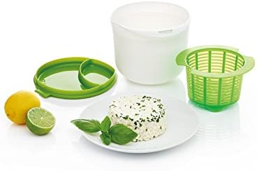 Kitchen Craft - Kit para Hacer Queso en microondas, alimentación Saludable, Color Verde y Blanco: Amazon.es
