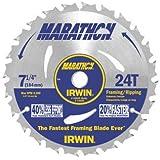"50 Pack Irwin 24030 Marathon 7-1/4"" x 24-Tooth Framing and Ripping Circular Saw Blade Bulk"