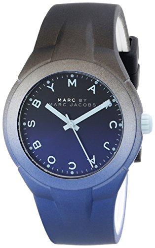 Marc by Marc Jacobs Women's MBM5541 Black and Blue Watch with Silicone - Shades Mark Jacobs