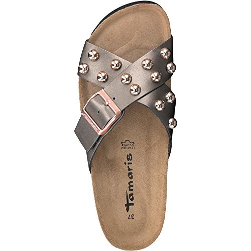 Tamaris Ladies Slipper 1-27540-20-214 Anthracite Gray Grau y21tFQ2