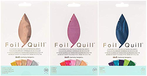 Foil Quill All-in-One Deluxe Bundle, 3 Quill Sizes, 3 Foil Packs, Adapters, Foils, Tape, Design Card by We R Memory Keepers (Image #3)