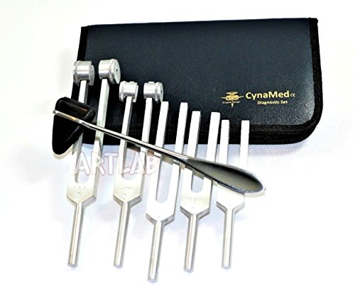 Tuning Fork Set of 5 Taylor Hammer Medical Surgical Diagnostic Instruments CYNAMED