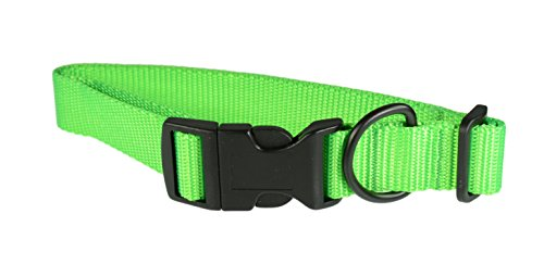 (Evans Collars Adjustable Nylon Collar, Large, Neon Green)