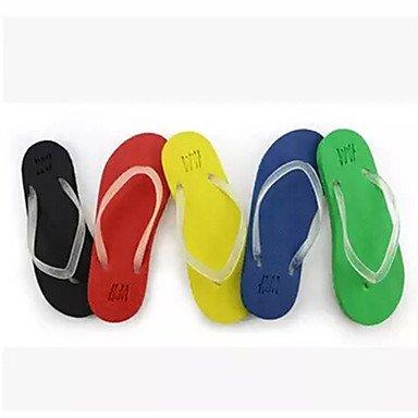 Unisex sandalias Primavera Verano Otoño confort luminoso Novedad Zapato Casual al aire libre PU Stiletto talón talón plano caminando Blue