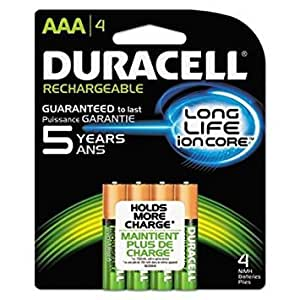Duracell Rechargeable Aaa Batteries 4 Count (Pack of 2)
