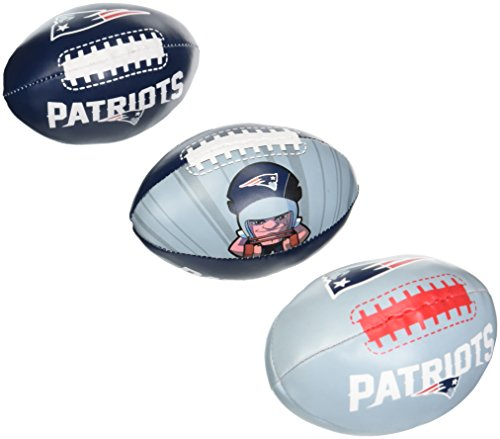 - NFL New England Patriots Kids Softee Football (Set of 3), Small, Blue