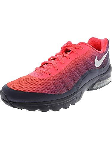 Nike Men's Air Max Invigor Print Running Shoe, Solar red/Metallic Silver/Obsidian, 11 D US