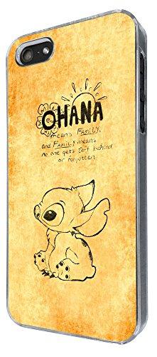 825 - Ohana Family Meaning Quote Design iphone 5 5S Coque Fashion Trend Case Coque Protection Cover plastique et métal