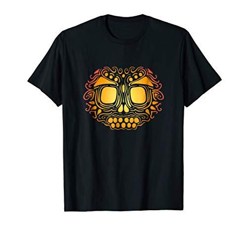 Tribal Skull Pumpkin Carving T-shirt Jack O'Lantern