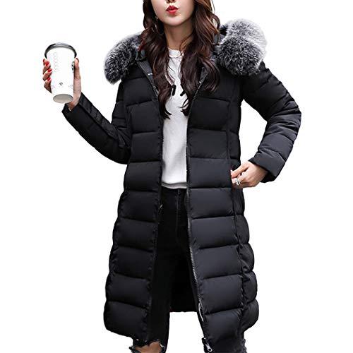 Longue de Manteau Rversible Capuche Coton Femme de Noir Doudoune avec Duvet Chauden HANMAX Fourrure Hiver Grande Taille Coton UqBxgOwzdz