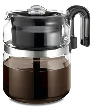 Café Brew Collection Stovetop Percolator Glass Coffee Pot