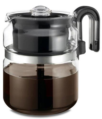 Medelco 8 Cup Glass Stovetop Percolator Dishwasher Safe