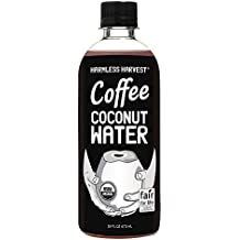 Harmless Harvest Organic Coffee Coconut Water, 16 Fluid Ounce (Pack of 12)