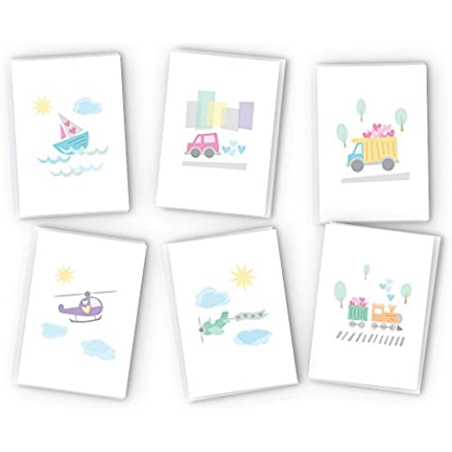 Land, Sea, and Air Travel Greeting Card Collection Pack - 24 Cards & Envelopes Sales