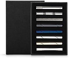 Vignac 8本セット ネクタイピン メンズ ファッション スーツ 真鍮製 タイピン おしゃれ 高級 ギフトボックスを提供