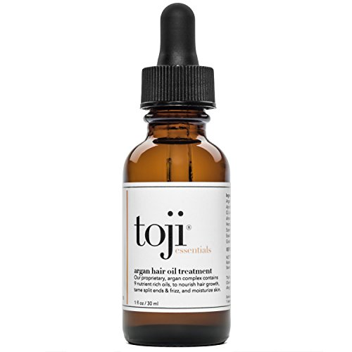 Toji Essentials: Argan Hair Growth Oil Treatment w/Special 9 Ingredient Natural Anti-Hair Loss Blend of Virgin Argan, Jojoba, Grapeseed, Apricot Kernel, More for Men and Women (1 Oz.)