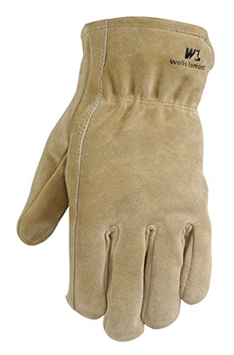 Leather Winter Work Gloves, 100-gram Thinsulate Insulation, Split Cowhide