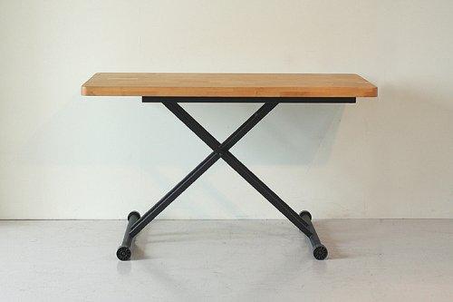 リフティングテーブル 幅120cm 高さ23~72cm 用途に合せて高さが調節できる アルダー 木製 スチール モダン シンプル ATO-263 (ナチュラル) B00DM25U1Cナチュラル