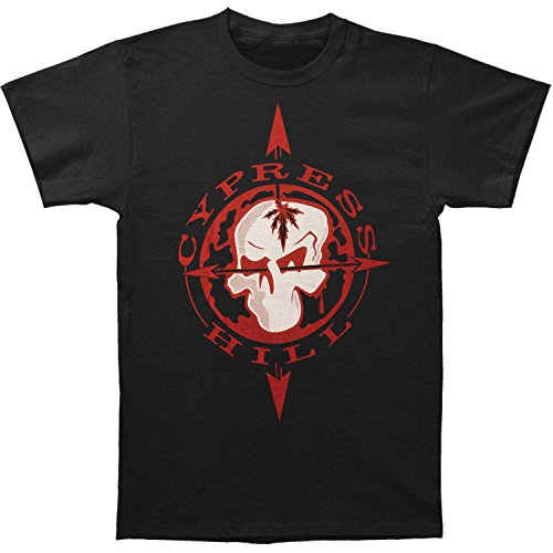 Cypress Hill Men's Skull & Compass T-shirt X-Large Black (Cypress Hill Clothing compare prices)