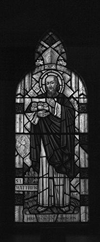 (24 x 36 B&W Giclee Print The Harrington Window, a Stained-Glass Window at St. Matthew's Episcopal Church in Wheeling, West Virginia 2015 Highsmith 06a)