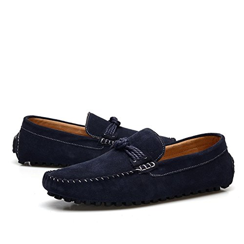 Enllerviid Herren Slip On Driving Mokassins Marine Wildleder Loafer Schuhe EU41.5 tiqtDBMmm6