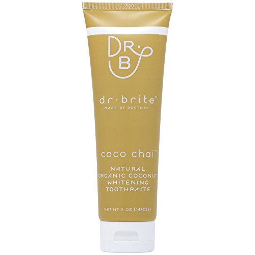 Dr. Brite Coco Chai Toothpaste | Whitening Toothpaste with Natural Organic Coconut Oil | Fluoride Free, Using 100% Edible Ingredients | Safe to Swallow (5 oz)