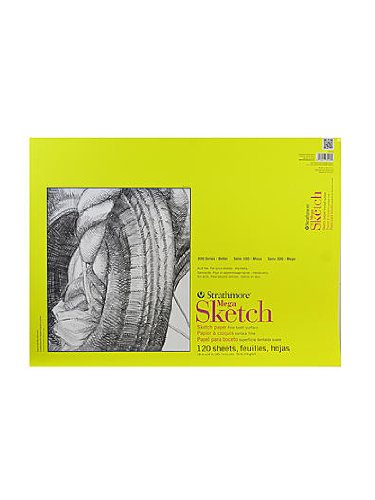 Strathmore 300 Series Sketch Pads 18 in. x 24 in. glue bound (Series Sketch Pads)