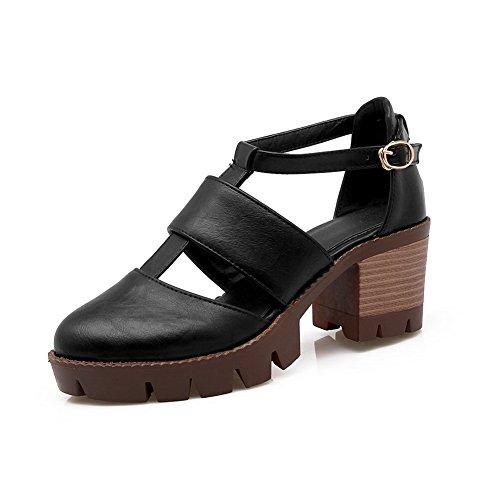 EU Sandales 5 Noir Compensées Femme Noir 36 BalaMasa Bwv0xZ0