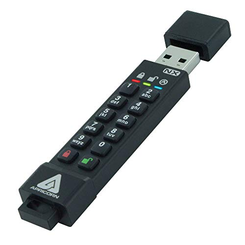 Apricorn Aegis Secure Key 3 NX 128GB 256-bit Encrypted FIPS 140-2 Level 3 Validated Secure USB 3.0 Flash Drive, ASK3-NX-128GB by Apricorn (Image #1)