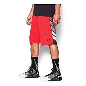 Under Armour Mens UA Select Basketball Shorts SM X 11 ROCKET RED