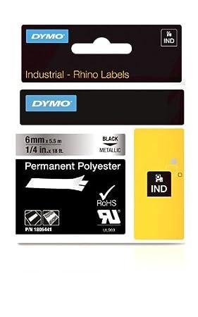 Dymo 1734523 Rhino PRO Polyesteretiketten f/ür die Industrie permanent klebend, Rolle 24/mm/x/5,5/m, schwarze Schrift auf wei/ßem Untergrund, selbstklebend