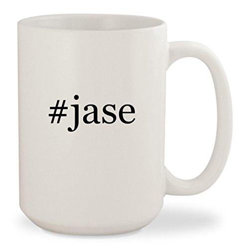 #jase - White Hashtag 15oz Ceramic Coffee Mug - Jase Sunglasses