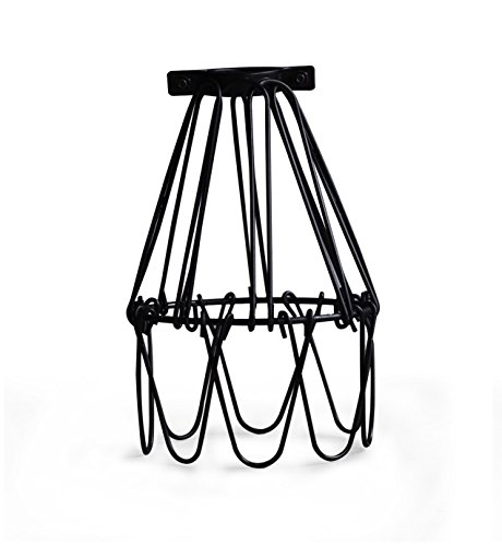 metal cage lamp guard string light shade open close flower