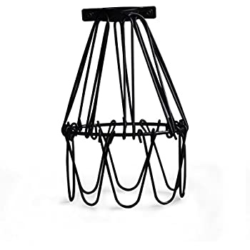 Metal Bird Cage String Lights : Industrial Metal Bird Cage Lamp Guard String Light Shade Open Close Flower Ceiling Hanging ...