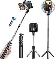 Selfie Trípode Bluetooth,Trípode para Celular Cámara,360°Rotación Extensible Selfie Stick Inalámbrico Palo Sel