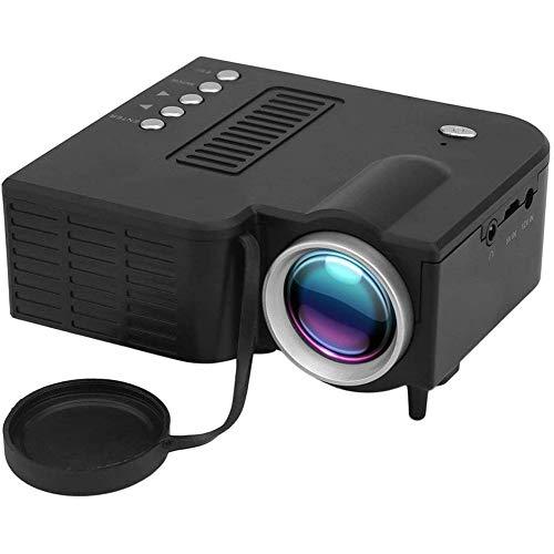 HUIIT Mini Tragbarer LED-Projektor 1080P Multimedia Family Cinema Heimkino USB TF-Karte Eingang Mini Beamer Für PC…