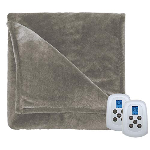 Serta Silky Plush Electric Heated Warming Blanket Queen Ivor