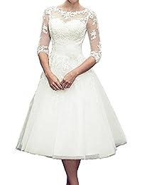 Amazon.com: 3/4 Sleeve - Wedding Dresses / Wedding Party: Clothing ...