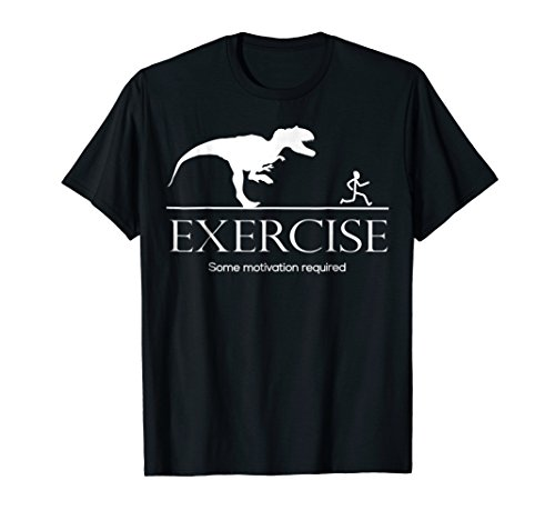 (Exercise Motivation Required Funny T-rex Running Tshirt)