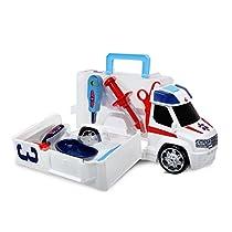 Dickie - Ambulancia, maletín, con luz y sonido, color blanco ( 3716000)